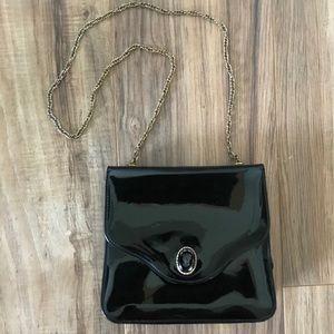 VNTG Black Patent Leather Bag